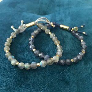 Gorjana Power Gemstone Bead Bracelet Lot Of 2